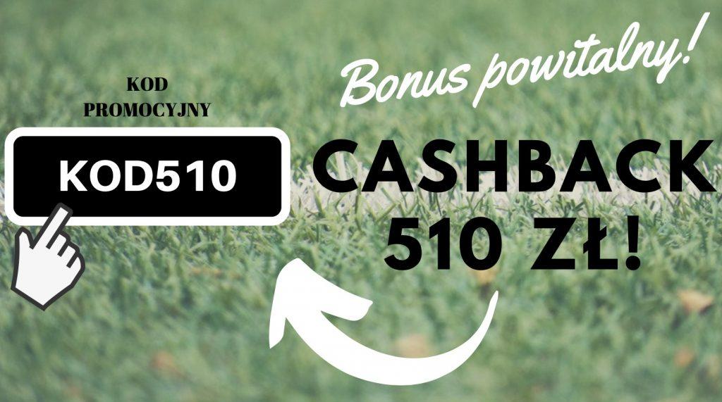 """Betclic bonus powitalny 510 PLN! Premia na start z kodem """"KOD510""""!"""